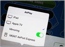 AirPlay Mirroring source picker